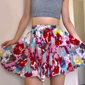 ❤️🎀Forever21 watercolor skirt
